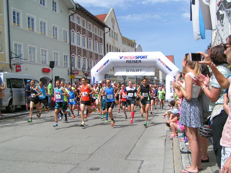 Start beim Stadtlauf in Wolfratshausen