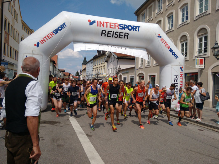 Start beim Stadtlauf in Wolfratshausen 2018